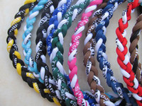 Wholesale Braid Germanium Titanium Sports Baseball Ropes Tornado triple braided Necklace No box