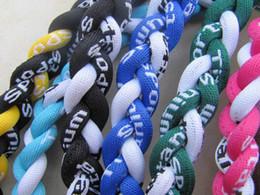Wholesale Germanium titanium ropes necklace tornado braided SPORTS football baseball new tornado pendant healthy Fashion body jewelry quot quot quot