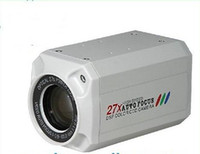 Wholesale 1 inch TVL Xoptical zoom Auto Focus CCTV Box Camera DSP Color CCD J white e_shop2008