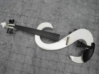 Wholesale Hand made electric violin musical instruments white red black