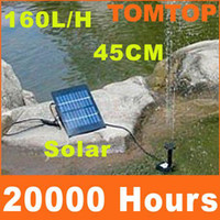 Wholesale 170L H Solar Power Solar Brushless Pump Kit System For Water Cycle Pond Fountain Rockery Fountain Outdoor H4227