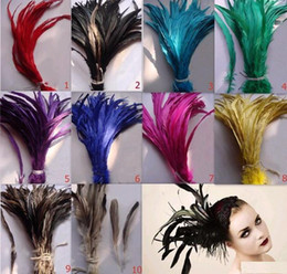 Wholesale 100 Royal Dyed Headpiece Feathers extensions Single Rooster Tail Feather hair extension