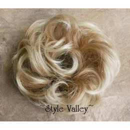 Wholesale wigs Sandy Blonde Hair scrunchie ponytail hairpiece wig synthetic ponytail hairpiece