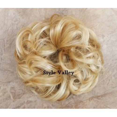 Astonishing Blonde Scrunchie Ponytail Hairpiece Wig Ponytail Wigs Hairpiece Hairstyles For Women Draintrainus