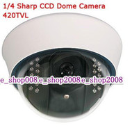 Wholesale 1 inch Dome Camera SHARP CCD IR LED Day amp Night Security Auto Tracking white blance e_shop2008