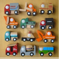 Wholesale Brand New Mini Wooden Educational Toy Cartoon Car Toy For XMAS Gift