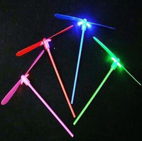 Wholesale Light bamboo dragonfly dragonfly flash flying fairies Arrows flying toys educational toys