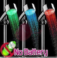 Wholesale 20pcs LED CE certification and ROSH certification RGB Shower RC A Temperature Green Blue Red