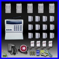 Wholesale WIRELESS HOME SECURITY ALARM SYSTEM LCD SCREEN KEYPAD PANEL AUTO DIAL INTRUDER ALARM SYSTEM KIT WITH PIR MOTION DETECTORS