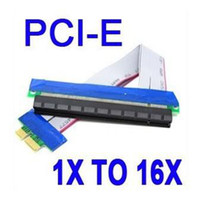 Wholesale PCI Express PCI e X to X Riser Card Extender Ribbon Cable