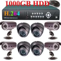 Wholesale Deals CH IR CCD Cameras TB H Network DVR CCTV Security System GB HDD e_shop2008