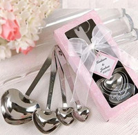 Wholesale Sweet Valentine gift A set of pc heart love sharped stainless steel measuring spoon