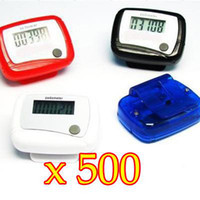 Wholesale 500PCS Pocket LCD Digital Electronic Pedometer Step Walking Run