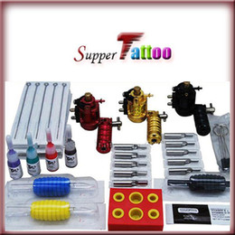 Wholesale Tattoo Kit Alloy Motor Rotary Machines Guns Needles Ink Beginner User