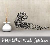 Wholesale funlife x60cm x24in Removable Vinyl Wall Stickers Animal Tiger My Wall Decal Sticker Mural UK Ebay Hot L2012372