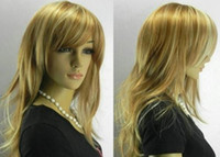 Wholesale Super Popular women s yellow Wig wigs Synthetic Wigs