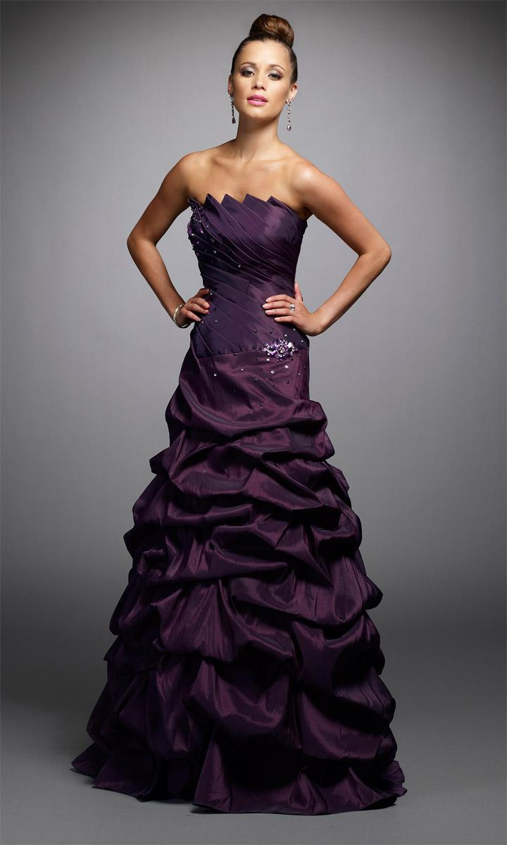 a line strapless ruched taffeta beaded dark - Wholesale Wedding Dresses