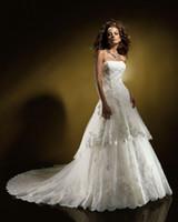 Hi-Lo benjamin wedding dresses - 2011 New Wedding Dresses Sexy Benjamin Roberts tulle chapel train Wedding Dress Bridal Gown hjklp88