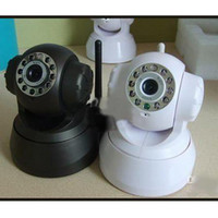Wholesale IP wreless wired camera amp IP camera WIFI wireless AUDIO CCTV IP Camera black white