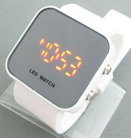 Wholesale Ebay Hot selling Fashion LED Watch mirror Unisex couples watches