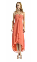 Wholesale Hi low prom dress top fashion hight low orange prom dresses at competitive price FN056