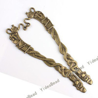 Wholesale 30pcs Teapot Antique Bronze Tone Bookmarks Beading mm With Loop Fit Jewelry Accessories