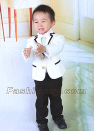 Wholesale Children dress the little prince white boy students suits four pieces