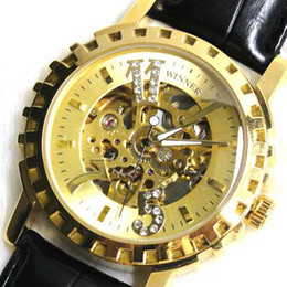 Wholesale Mens luxury golden dial AUTOMATIC MECHANICAL Watch