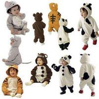 Wholesale 40pcs layer Baby Animal rompers pyjamas jumpers toddler romper bodysuit sleepwear jumpsuit