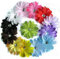 Cheap 360Sets Crochet Headbands+4 inch Tropical Lily Flower Baby Heads Hair clips,Hair Flowers,Baby Clips