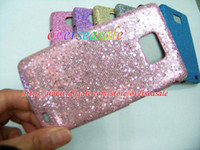 made in China i9100 - Bling Carbon fiber Glitter Leopard skin hard cover case cases for Samsung Galaxy I9100 S S2