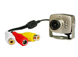 """Caméra pour la sécurité cctv en Ligne-Mini Spy de Couleur de la Caméra de Sécurité CCTV Video Camera 1/3"""" CMOS 6 IR KED 380 TVL MN208 e_shop2008"""