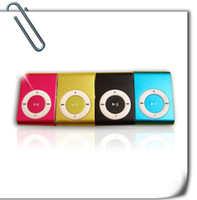 Wholesale MP3 Player Mini Metal clip Mp3 Player micro TF card SD M