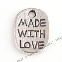 Wholesale 400 HOT SALE Carved Letter Charms Pendants Beads Loop METAL Pandent Fit DIY Handcraft mm