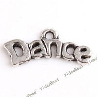 Wholesale 240 Carved Letter Dance Charms Pendants Beads Loop METAL Pandent Fit DIY Handcraft mm