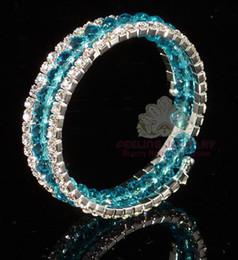 Wholesale Bridal jewelry beaded bracelet bangle rhinestone bracelet stretchy bangle