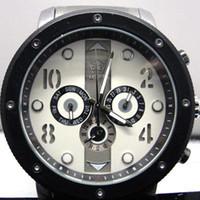 al por mayor relojes manos-Hombre AUTO mecánico 6 mano reloj de acero inoxidable W029