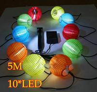 Solar Light Set 10 conduit Jardin lanternes / lumière 8 heures d'éclairage