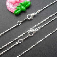Anniversary Silver Plate/Fill Religion Hot Wholesale and retail silver plated ball beads necklace chain SN10040 420x1.5mm 60pcs lot