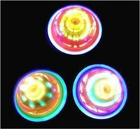 Wholesale 24pcs Newest Colorful LED Gyro Flash Gyro Inertial Friction Tops Cheap Super Lighting Spinning tops