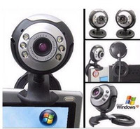 Wholesale top selling Mega USB LED Webcam Web Cam Camera PC Laptop Mic