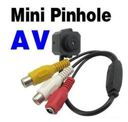 Caméra pour la sécurité cctv en Ligne-Mini sténopé Micro Couleur CCTV Sécurité Audio Vidéo CMOS Spy caméra filaire MN203 e_shop2008