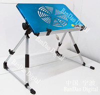 Wholesale Notebook Bed Stand Laptop computer Desk Portable Table Aluminum with Fan Sample
