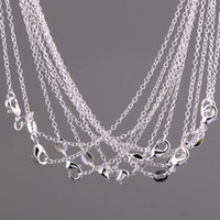 Wholesale MM Silver Chain Necklace High Quality with free DHL shipping