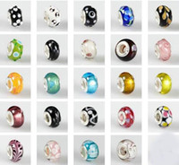 Wholesale DIY mm mix style Lampwork Glass European Beads Fit Charm Hand chain