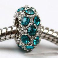 achat en gros de charme européen aquamarine-10,5 x 6MM aigue-marine Cristal Strass Perles intercalaires,Fit le Charme Européen des Bracelets, des Bijoux de Résultats