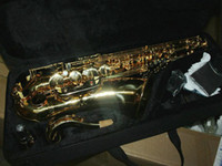 Wholesale s new arriving high quality curve golden Tenor sax saxophone with free hardcase