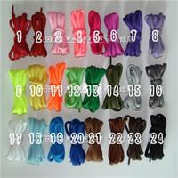 Wholesale Pairs Round Nylon Shoe Lace Sneakers Shoelace Colors quot U pick color