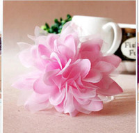 Wholesale 2011 Sell like hot cakes beautiful Silk yarn dahlias headdress flower flower broach the bride