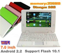 3G 7 inch android 2.2 - 7 inch mini netbook mini laptop computer android VIA8650 MB GB basic frequency MHz